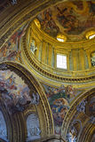 Chiesa del gesu - διακοσμητική στέγη εκκλησιών στοκ εικόνες