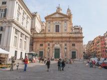 Chiesa del Gesu in Genoa Royalty Free Stock Image