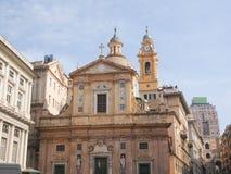 Chiesa del Gesu in Genoa Stock Photography