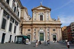 Chiesa del Gesu in Genua Stock Afbeeldingen