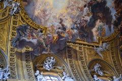Chiesa del gesu - het drijven het schilderen stock afbeelding