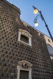 Chiesa del Gesu Nuovo в Неаполь, Италии стоковые фотографии rf