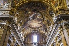 Chiesa del Gesu, Roma, Italia Fotografia Stock