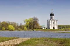 Chiesa del Intercession sul Nerl Immagine Stock
