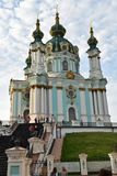 Chiesa del Ka del ` di Andriivs a Kiev Immagini Stock Libere da Diritti