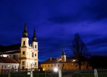 Chiesa del Litomysl trasversale santo La CZ Fotografia Stock Libera da Diritti