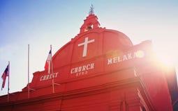 Chiesa del Malacca Cristo Fotografia Stock Libera da Diritti