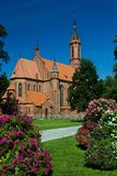Chiesa del mattone in Druskininkai Fotografia Stock Libera da Diritti