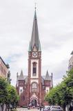 Chiesa del mattone rosso in Sandeford Fotografia Stock