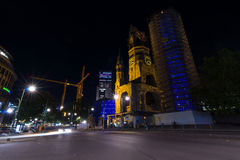 Chiesa del memoriale di Kaiser Wilhelm Fotografie Stock Libere da Diritti