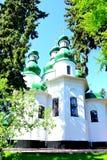 Chiesa del monastero Kitaevo della trinità santa a Kiev Fotografia Stock Libera da Diritti