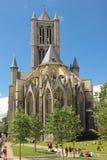 Chiesa del Nicholas del san gand belgium fotografia stock libera da diritti
