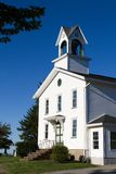 Chiesa del paese anziano con il campanile Immagine Stock Libera da Diritti