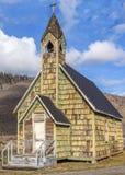 Chiesa del paese anziano vicino al ponte di Spences Fotografie Stock Libere da Diritti