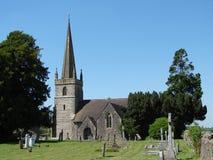 Chiesa del paese, Somerset   fotografia stock libera da diritti