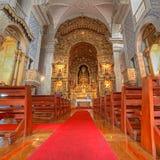 Chiesa del Portogallo con Azulejos Fotografie Stock Libere da Diritti