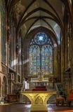 Chiesa del ` s di St George, Selestat, l'Alsazia, Francia Fotografia Stock