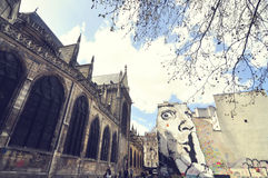 Chiesa del Saint-Merri, che è situata a Parigi Fotografia Stock
