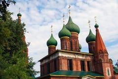 Chiesa del Saint Nicolas in Yaroslavl, Russia, in un giorno soleggiato Fotografia Stock