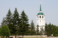 Chiesa del salvatore nella città di Irkutsk Fotografia Stock