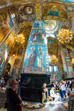 Chiesa del salvatore su anima rovesciata Affreschi magnifici di Fotografia Stock Libera da Diritti