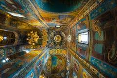 Chiesa del salvatore su anima rovesciata gioco di luce sotto Fotografia Stock