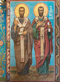 Chiesa del salvatore su anima rovesciata Il murale sulla parete Fotografie Stock Libere da Diritti