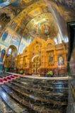 Chiesa del salvatore su anima rovesciata L'iconostasi centrale Immagine Stock Libera da Diritti