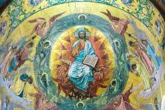 Chiesa del salvatore su anima rovesciata Mosaico sopra la centrale Immagine Stock