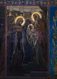 Chiesa del salvatore su anima rovesciata Sunbeam ha riflesso in Immagini Stock Libere da Diritti