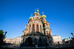 Chiesa del salvatore su sangue rovesciato a San Pietroburgo, Russia Fotografie Stock Libere da Diritti