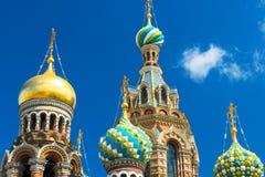 Chiesa del salvatore su sangue rovesciato in San Pietroburgo, Russia Fotografia Stock Libera da Diritti