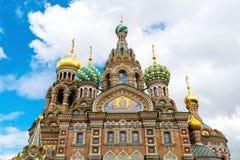 Chiesa del salvatore su sangue rovesciato, St Petersburg Immagine Stock Libera da Diritti