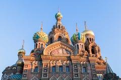 Chiesa del salvatore su sangue rovesciato a St Petersburg Fotografie Stock