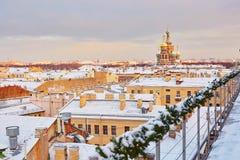 Chiesa del salvatore su sangue a San Pietroburgo Immagini Stock Libere da Diritti