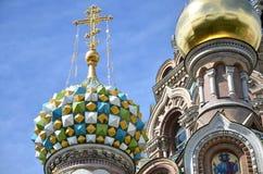 Chiesa del salvatore su sangue, San Pietroburgo, Russia Fotografie Stock Libere da Diritti