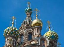 Chiesa del salvatore su sangue, San Pietroburgo, Russia Fotografia Stock Libera da Diritti
