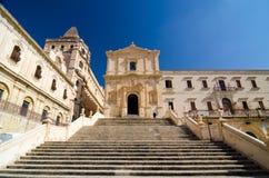 Chiesa del san Francis Immaculate nel Noto, Sicilia, Italia Fotografia Stock Libera da Diritti