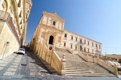Chiesa del san Francis Immaculate nel Noto, Sicilia, Italia Fotografie Stock Libere da Diritti