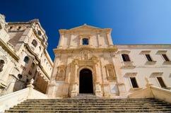 Chiesa del san Francis Immaculate nel Noto, Sicilia, Italia Immagini Stock
