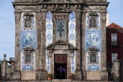 Chiesa del san Ildefonso a Oporto Fotografie Stock