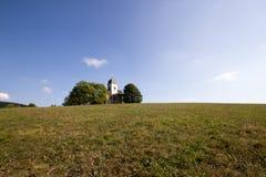 Chiesa del san Matthew Kostel Sv Matouše, Jedlová, ?eská Republika in repubblica Ceca di Jedlova immagini stock