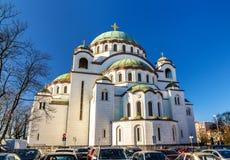 Chiesa del san Sava a Belgrado immagini stock libere da diritti