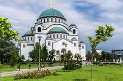 Chiesa del san Sava, Belgrado, Serbia fotografia stock libera da diritti