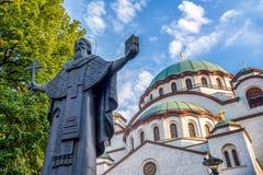 Chiesa del san Sava Belgrado, Serbia immagine stock