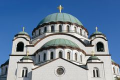 Chiesa del san Sava, Belgrado, Serbia fotografia stock