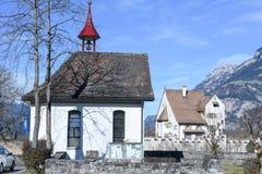 Chiesa del san Ulrich e del castello barrocco un pro a Seedorf Fotografia Stock Libera da Diritti