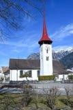 Chiesa del san Ulrich a Seedorf nel cantone Uri, Svizzera Immagine Stock Libera da Diritti