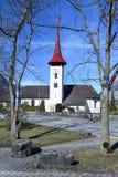 Chiesa del san Ulrich a Seedorf nel cantone Uri, Svizzera Immagini Stock Libere da Diritti