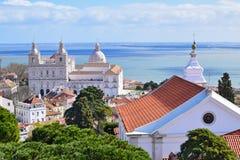 Chiesa del san Vincente a Lisbona Fotografie Stock Libere da Diritti
